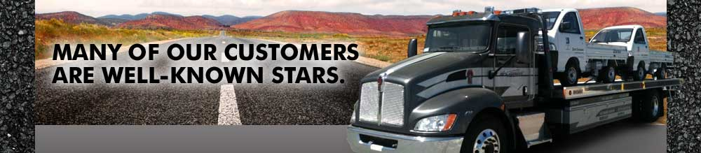MANY OF OUR CUSTOMERS ARE WELL-KNOWN STARS.